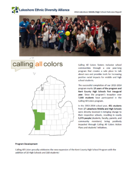 2013 - 2014 Outcome Report Calling All Colors