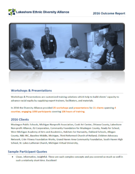 2016 Workshops Outcome Report Cover
